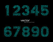 Vector abstract illustration of numbers. EPS 10