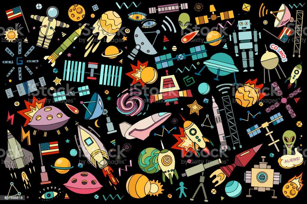 Vector abstract illustration of space. vector art illustration