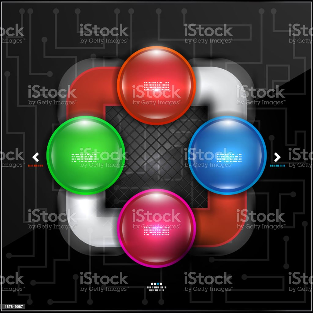 Vector abstract infographic design royalty-free stock vector art