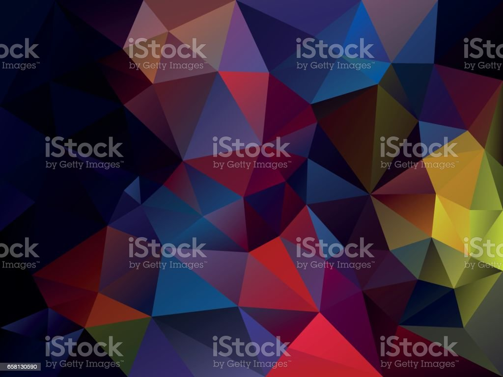 vector abstract irregular polygon background in dark vibrant multi color royalty-free vector abstract irregular polygon background in dark vibrant multi color stock vector art & more images of acute angle