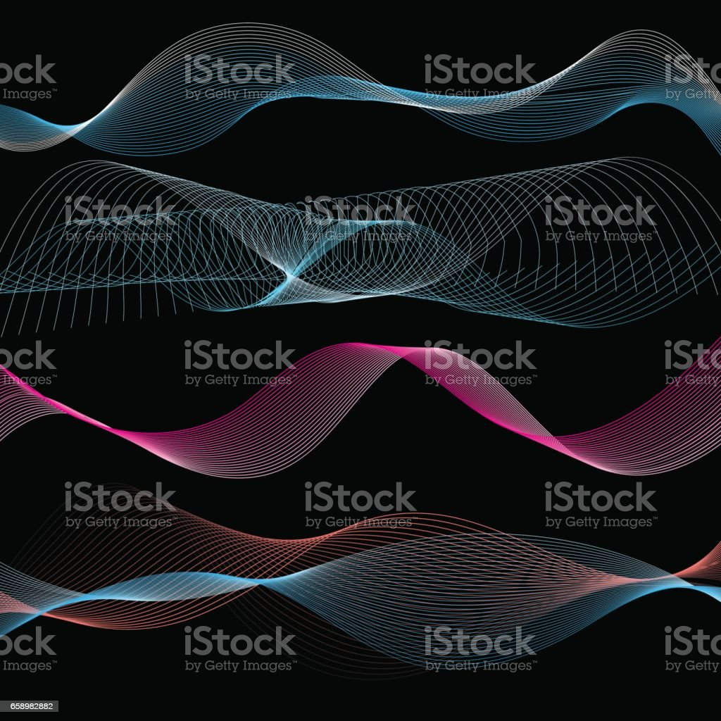 Vector abstract linear waves royalty-free vector abstract linear waves stock vector art & more images of abstract