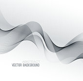 Vector Abstract green lines background. Template brochure design