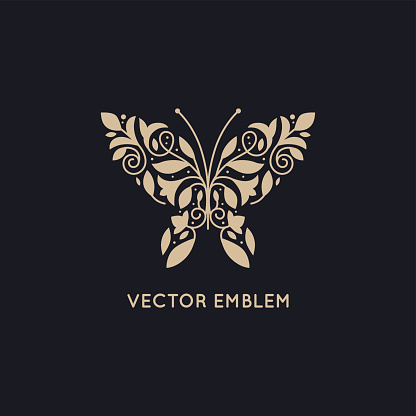 Vector abstract logo design template and emblem