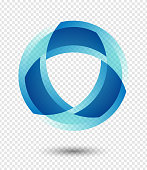 Vector abstract logo icon isolated