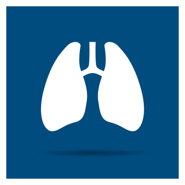 Vector Abstract Lungs Icon vector art illustration
