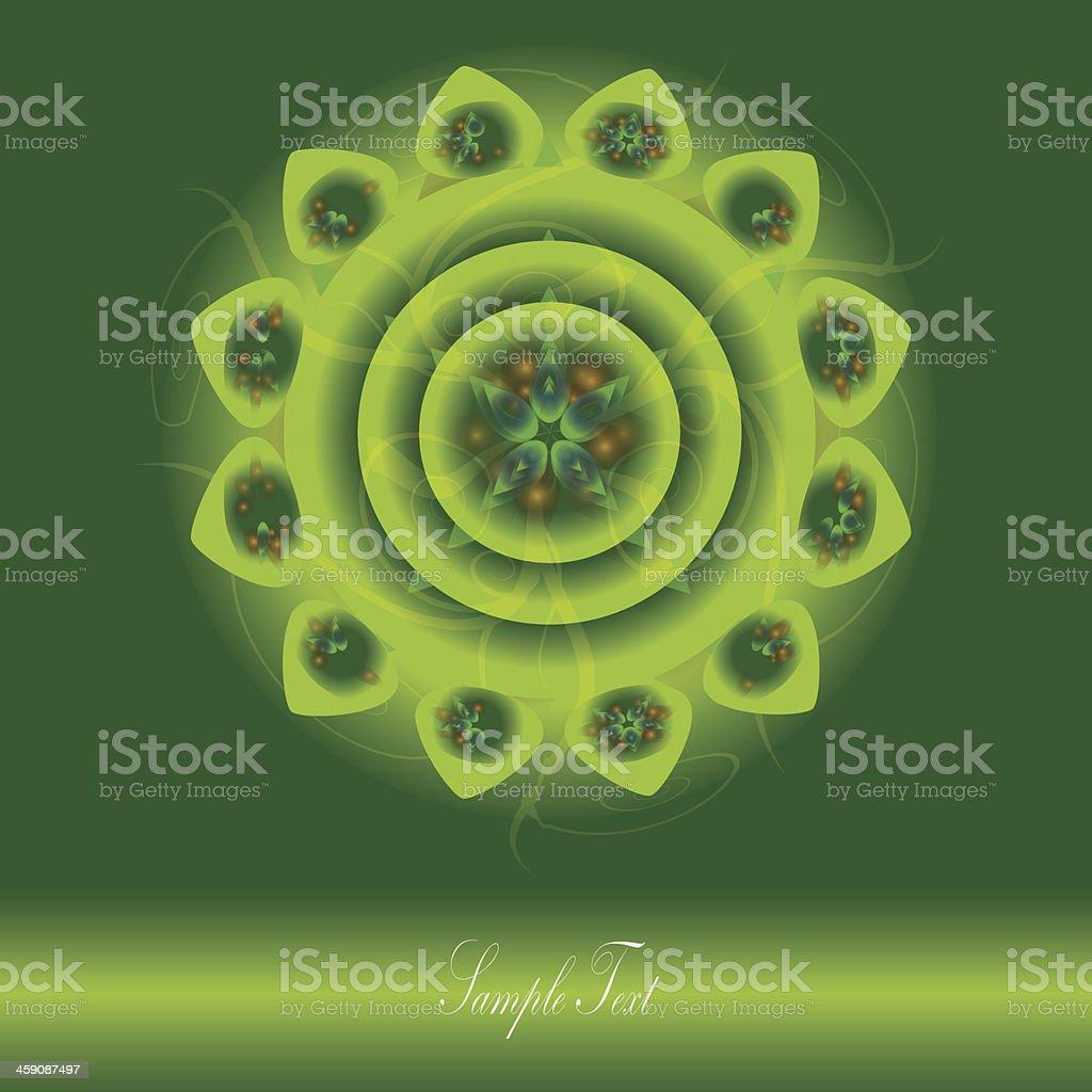 Vector Abstract Mandala Background royalty-free stock vector art
