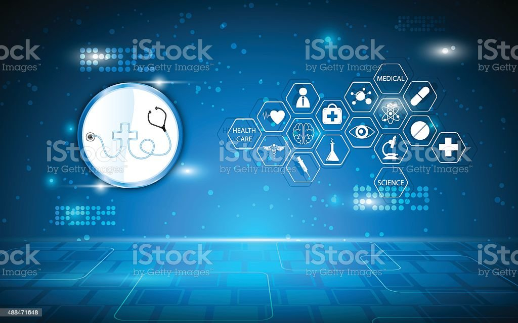 vector abstract medical concept background vector art illustration