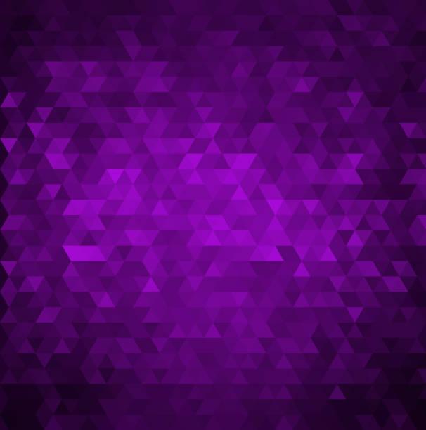 vektor abstrakten modernen hintergrund mit lila dreiecke - mosaikglas stock-grafiken, -clipart, -cartoons und -symbole