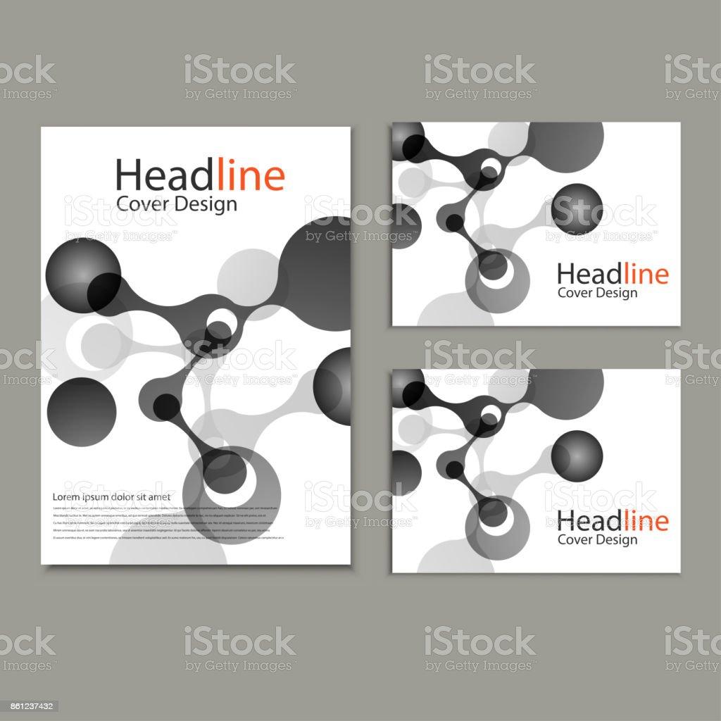 Vector abstract molecular structure. Cover template design vector art illustration