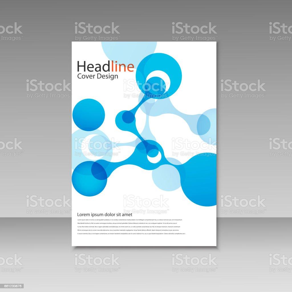 Vector abstract molecular structure. Template design vector art illustration