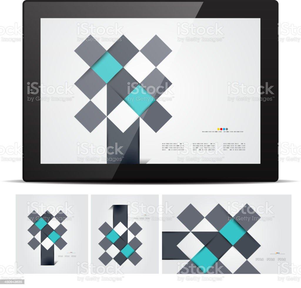 Vector abstract mosaic design royalty-free stock vector art