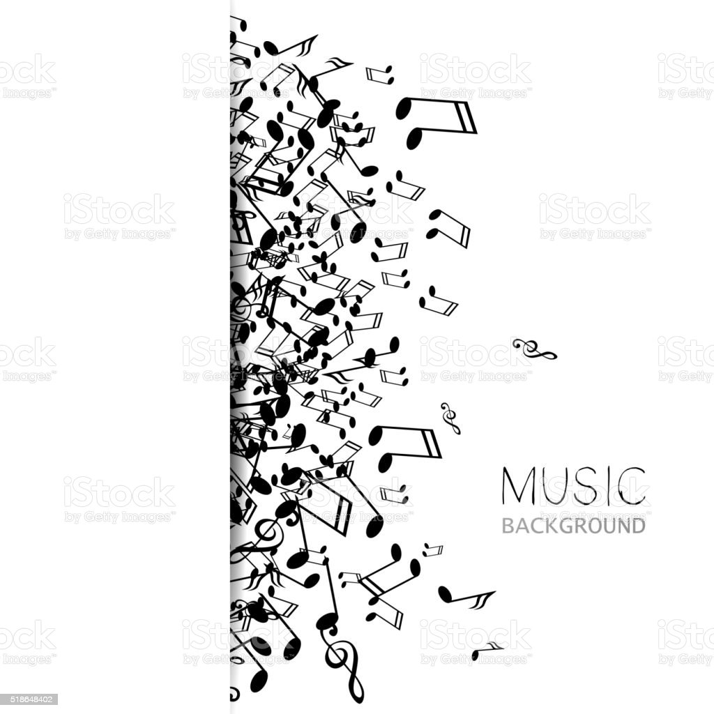 Vector Abstract Music Background vector art illustration