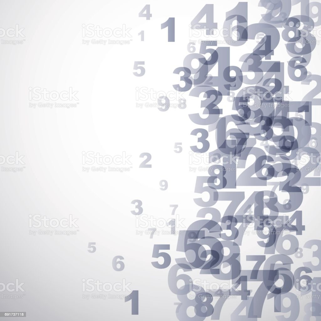Vector Abstract numbers background vector art illustration