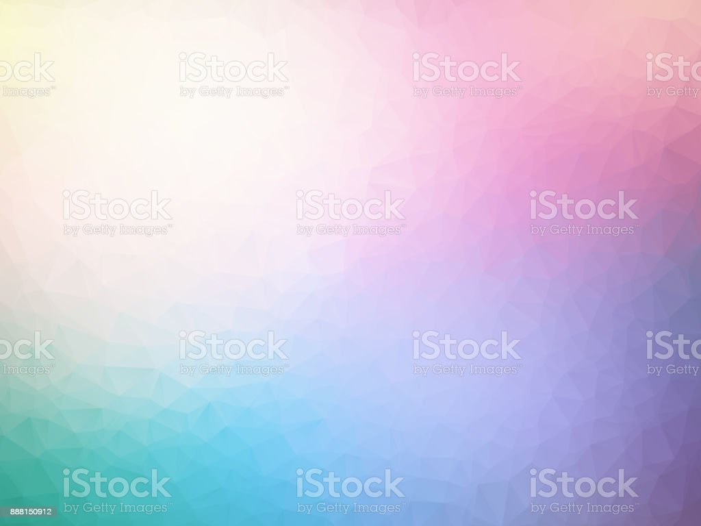 vector abstract pastel spectrum triangles geometric background vector art illustration
