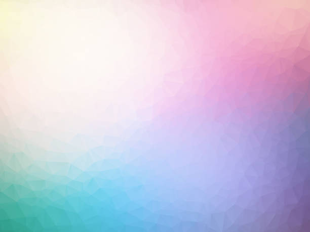 vector abstract pastel spectrum triangles geometric background - pastel colored stock illustrations, clip art, cartoons, & icons