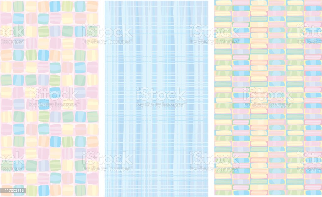 Vector abstract patterns. royalty-free stock vector art