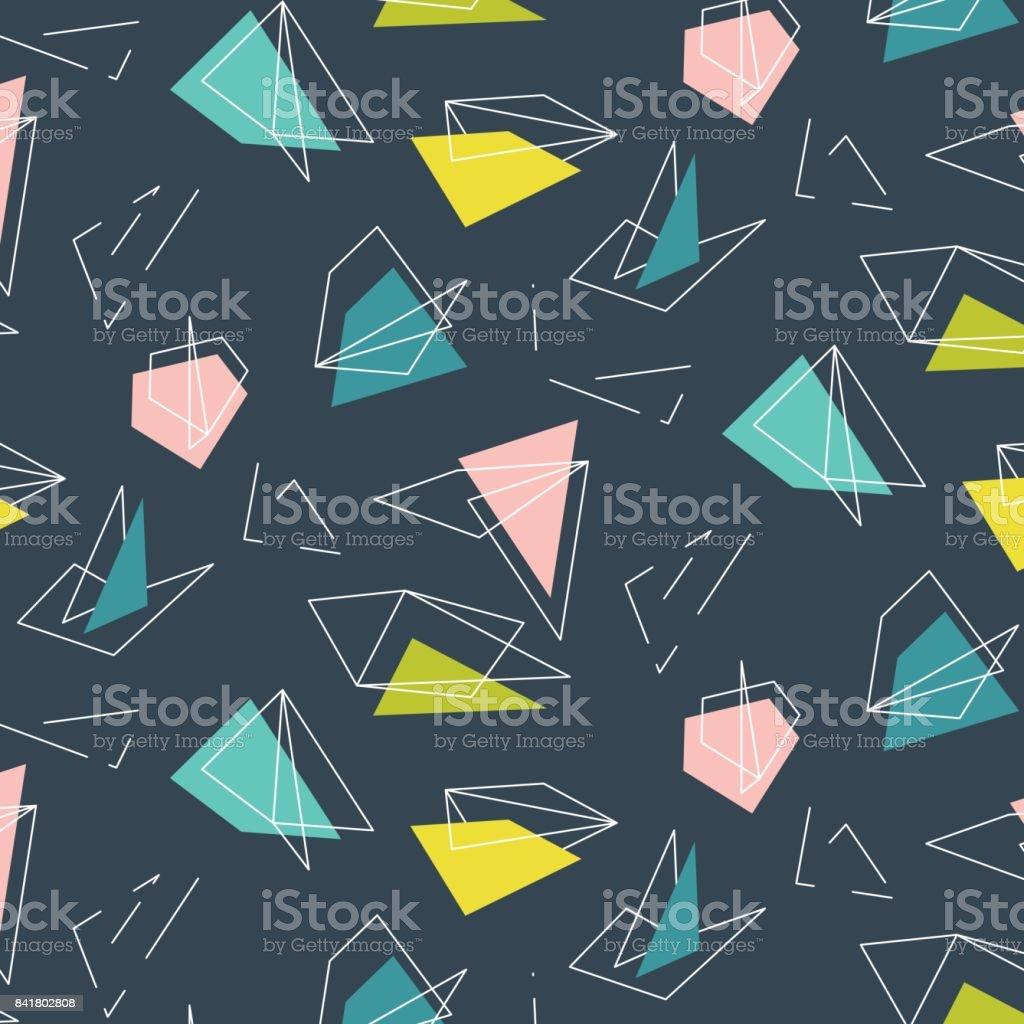 Abstrakte Polygonalen Vektormuster. Kid Stilvolle Moderne Einrichtung Mit  Dreiecke Und Linien. Wiederholen Sie Mosaik