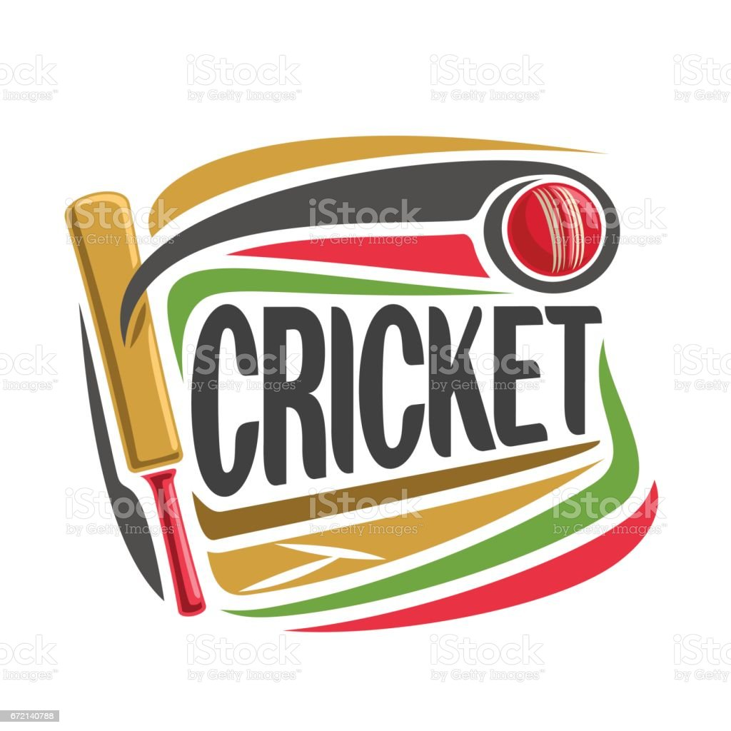 Vector abstract poster for Cricket game vector art illustration