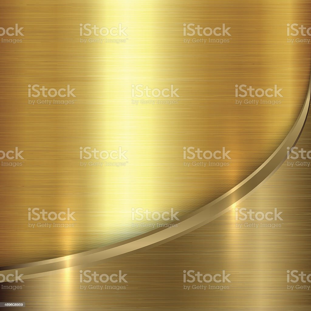 Vector abstract  precious metal background with curve vector art illustration