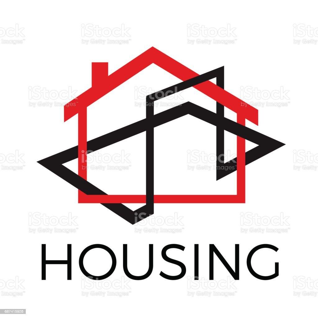 Vector Abstrait Rouge Et Noire Maison Agence Immobiliere Vecteurs Libres De Droits Et Plus D Images Vectorielles De Abstrait Istock