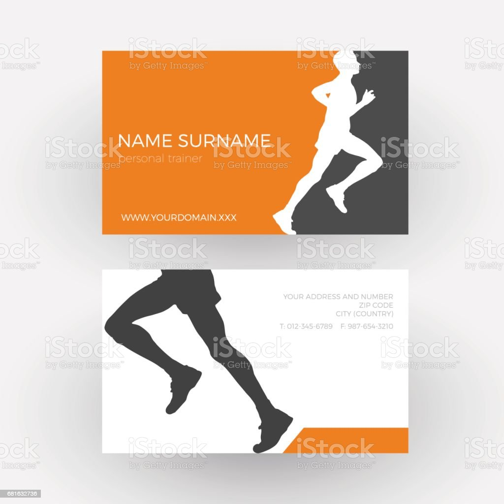 Trainer business card personal 48 best personal trainer images on vector abstract runner and personal trainer business card royalty free vector abstract runner and colourmoves