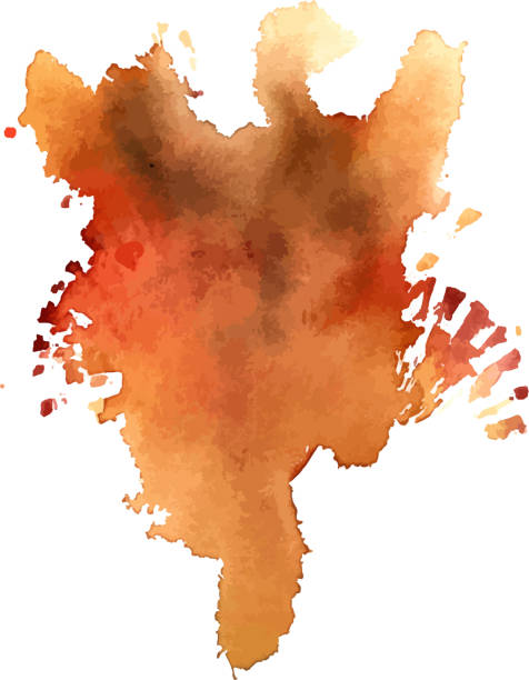 vektor abstrakte rostigen aquarell hintergrundtextur - dunkelbraun stock-grafiken, -clipart, -cartoons und -symbole