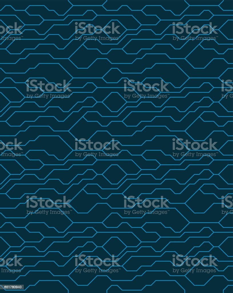 Vector Abstract Seamless Blue Background With Technical Lines For Presentations Business Web Computer