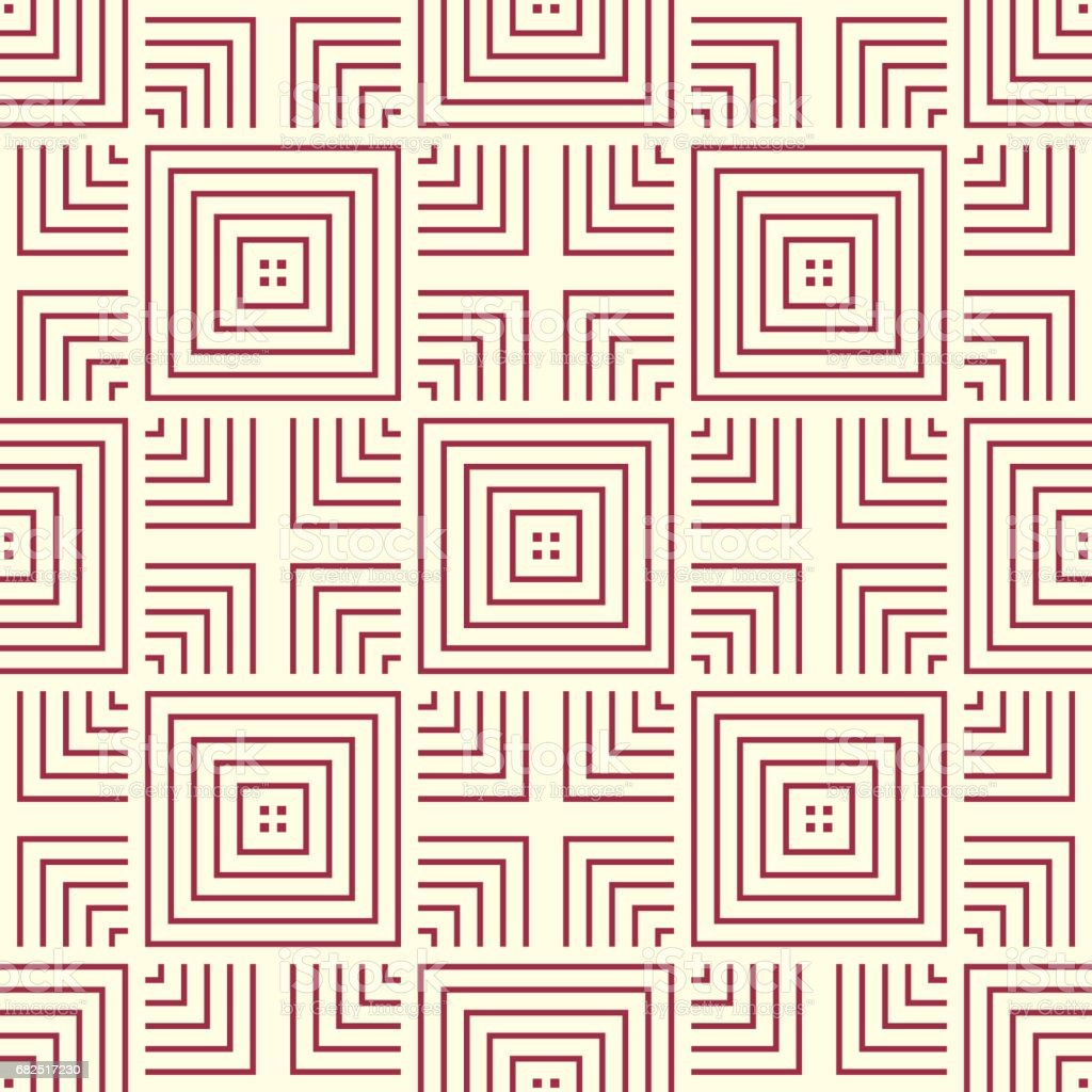 Vector abstract seamless composition best for use as wrapping paper, symmetric ornate background created with simple geometric shapes, squares. Lizenzfreies vector abstract seamless composition best for use as wrapping paper symmetric ornate background created with simple geometric shapes squares stock vektor art und mehr bilder von abstrakt