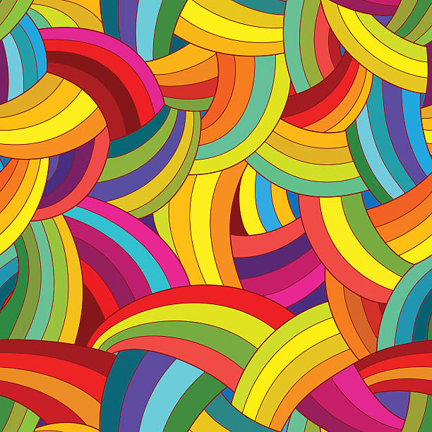 Vector abstract seamless pattern. Colorful background. Vector abstract seamless pattern. Colorful rainbow background. funky stock illustrations