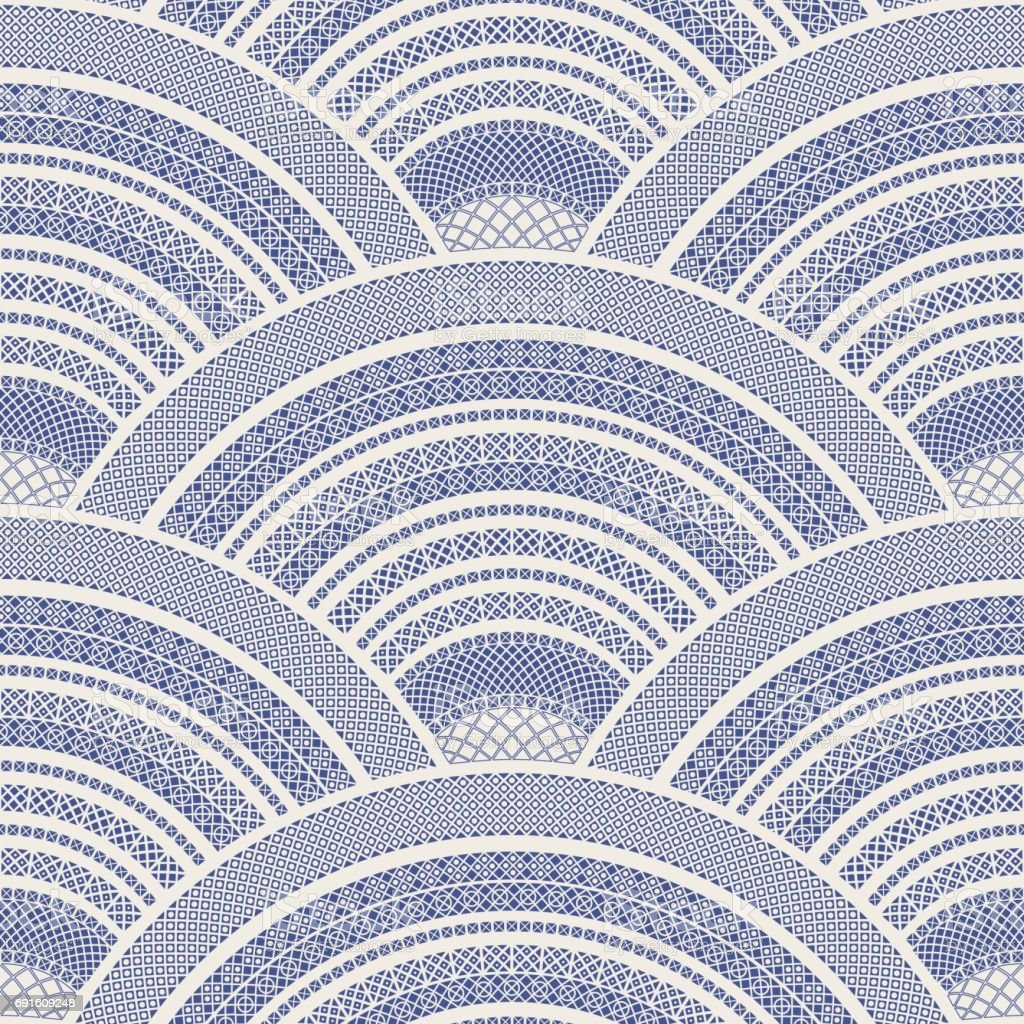 Vector abstract seamless wavy pattern from navy blue ethnic vector abstract seamless wavy pattern from navy blue ethnic ornaments on a light beige background dailygadgetfo Images
