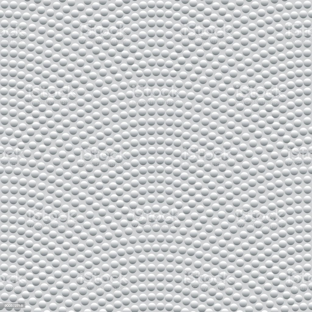 Vector abstract seamless wavy pattern with geometrical fish scale layout. Silver metallic circles on a light grey background. Fan shaped garlands .Wallpaper, textile patch, wrapping paper, page fill royalty-free vector abstract seamless wavy pattern with geometrical fish scale layout silver metallic circles on a light grey background fan shaped garlands wallpaper textile patch wrapping paper page fill stock illustration - download image now