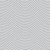 Vector abstract seamless wavy pattern with geometrical fish scale layout. Silver metallic circles on a light grey background. Fan shaped garlands .Wallpaper, textile patch, wrapping paper, page fill