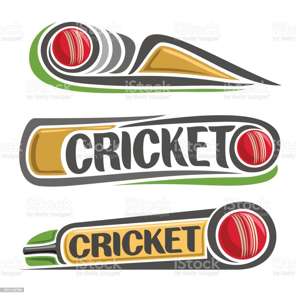 Vector abstract set for Cricket game