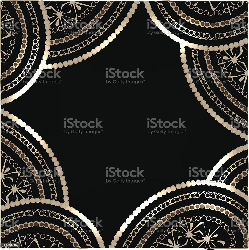 Vector abstract shiny paisley background royalty-free stock vector art