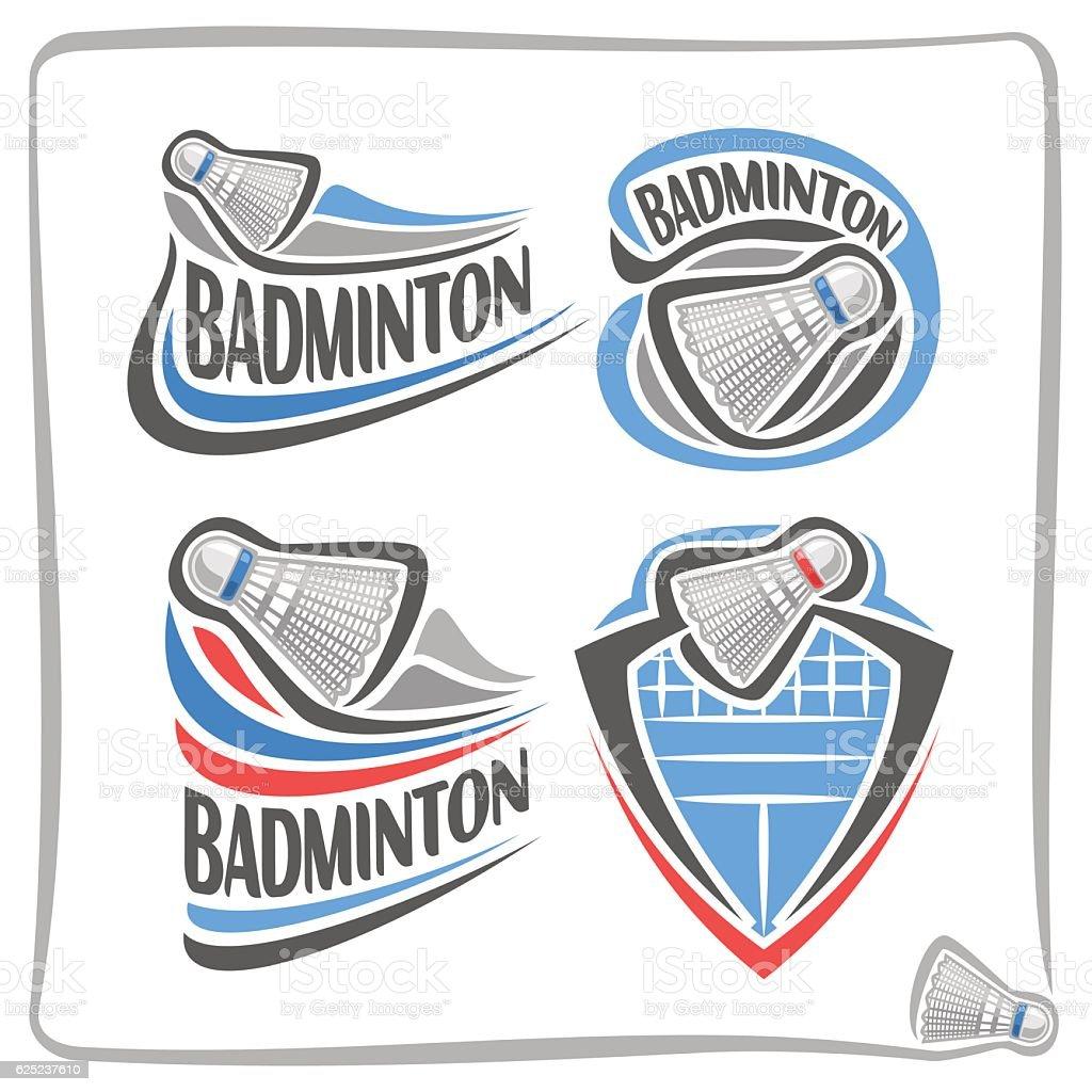 Vector abstract sign Badminton Shuttlecock vector art illustration