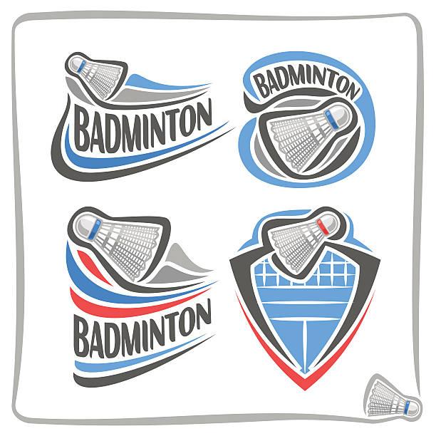 Vector abstract sign Badminton Shuttlecock - ilustração de arte vetorial