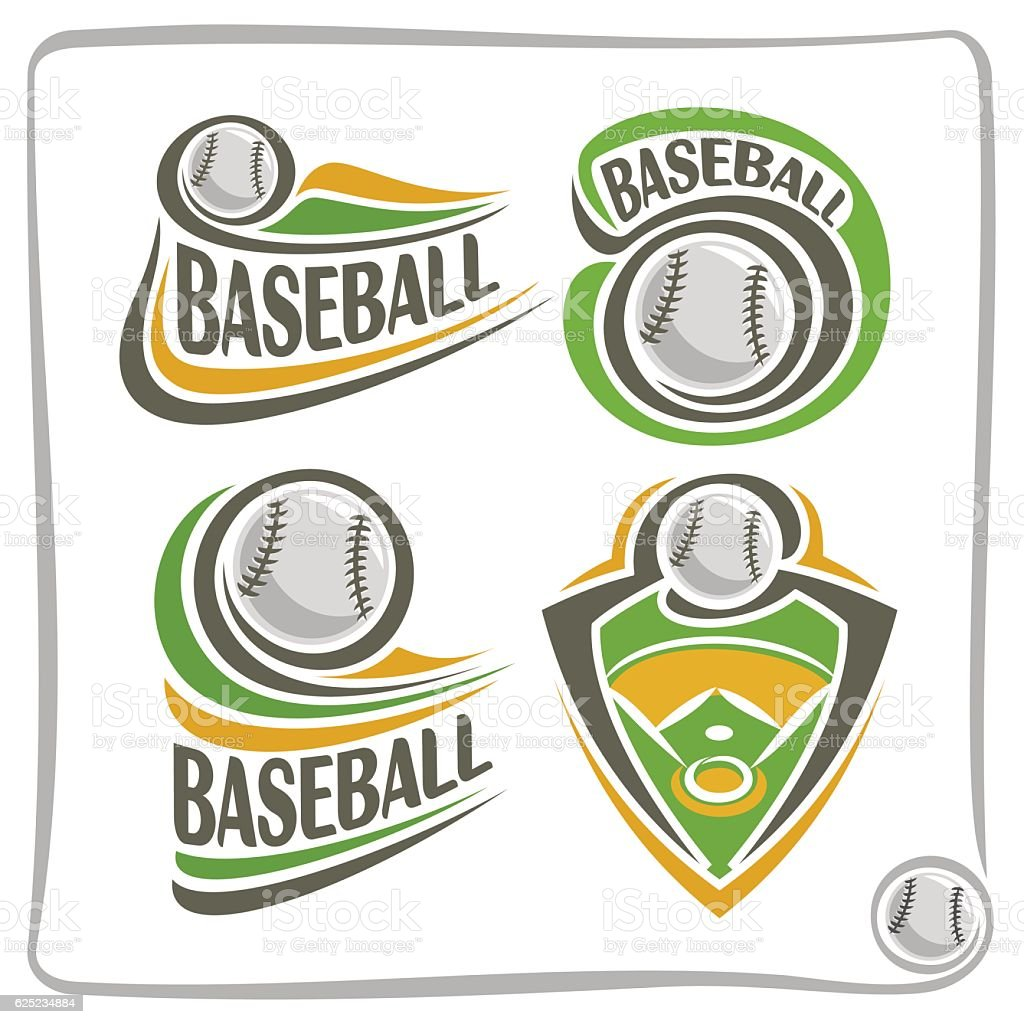 Vector abstract sign Baseball Ball vector art illustration