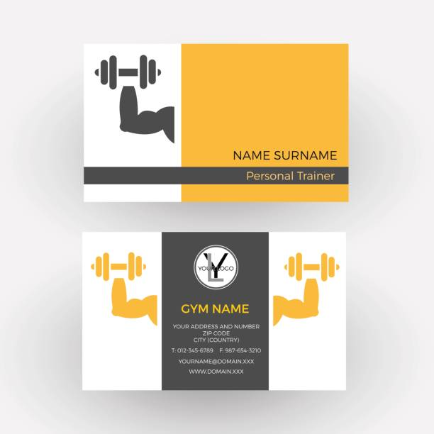Royalty free business card gym clip art vector images vector abstract sign personal trainer business card vector art illustration colourmoves