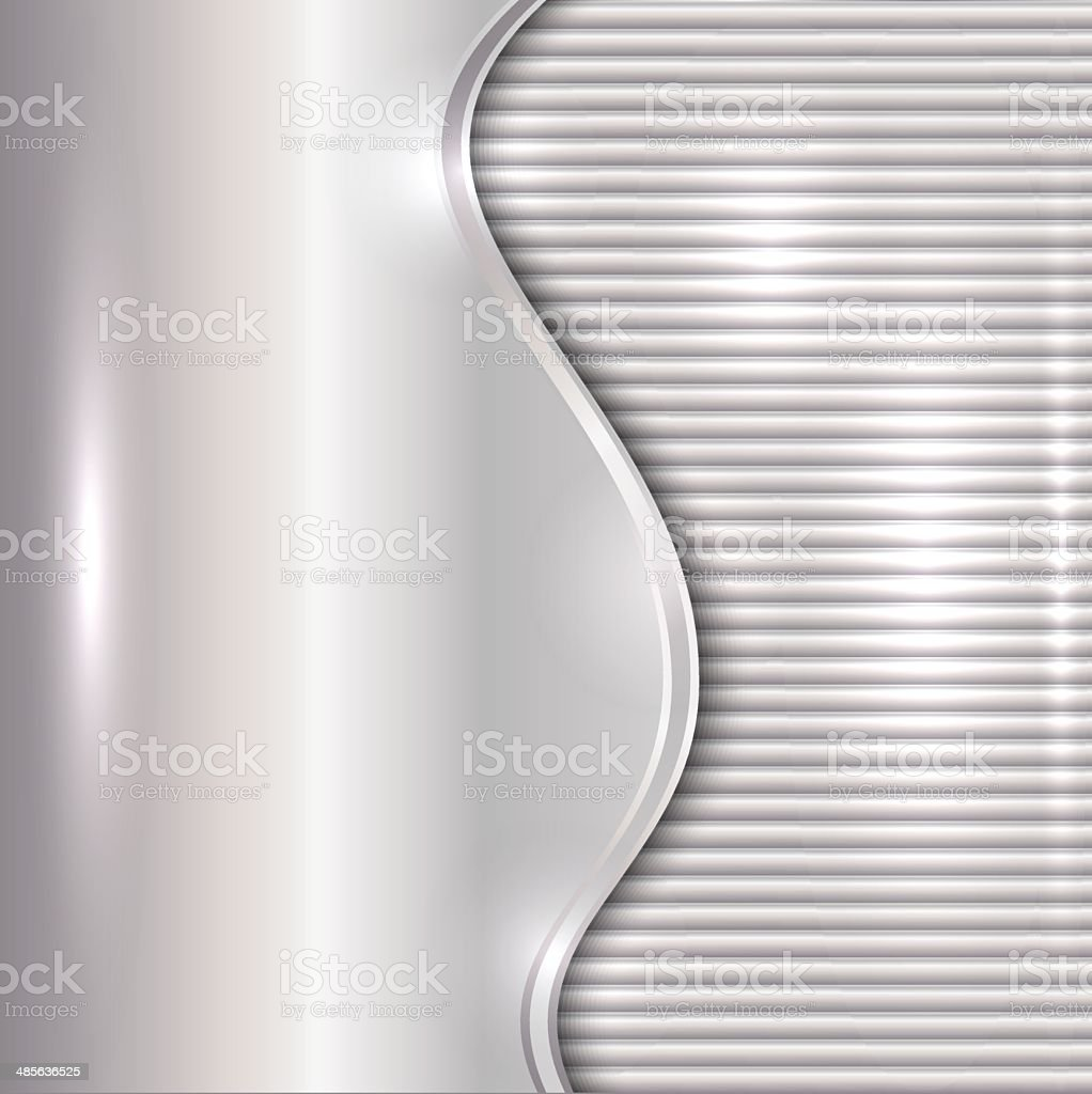 Vector abstract silver background with curve and stripes vector art illustration