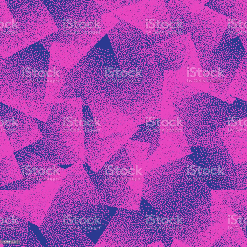 Vector Abstract Stippled Weird Seamless Pattern vector art illustration