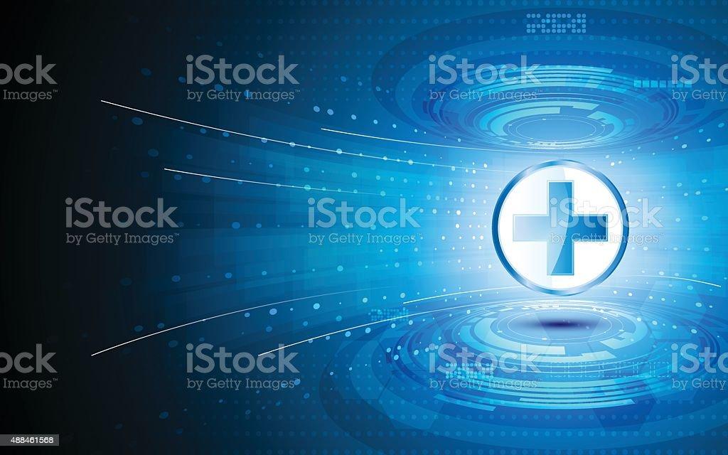 Vetor abstrato tecnologia Fundo de conceito de inovação de cuidados de saúde - ilustração de arte em vetor