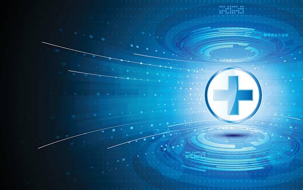 ベクトル抽象的なハイテクヘルスケア革新的なコンセプトの背景 - 医療機器点のイラスト素材/クリップアート素材/マンガ素材/アイコン素材