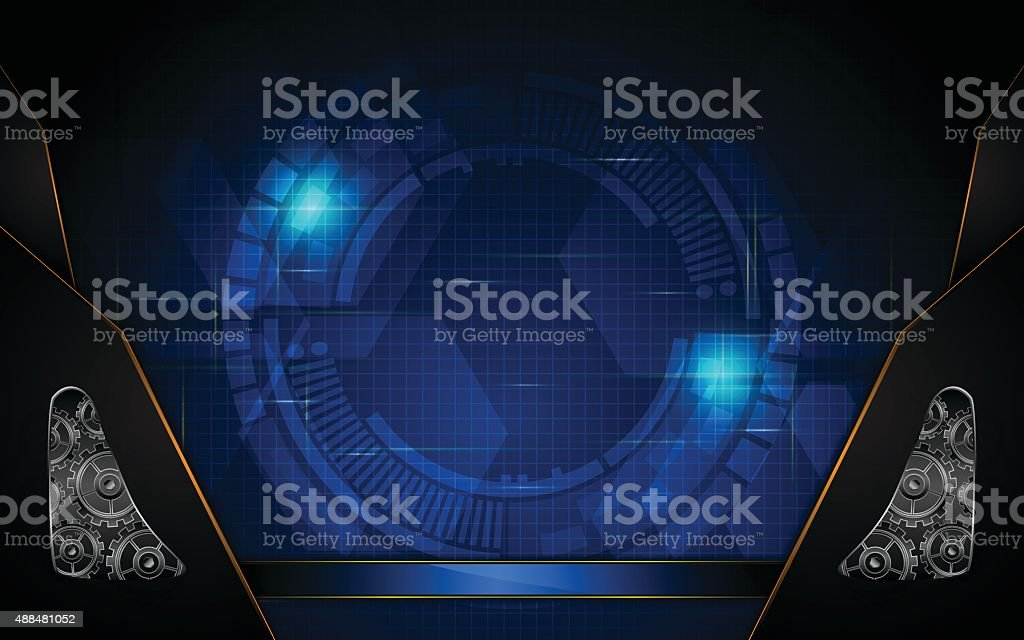 vector abstract technology concept system working background vector art illustration