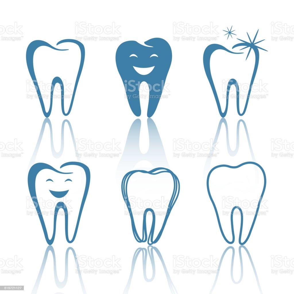 Vector Abstract Teeth Designs vector art illustration