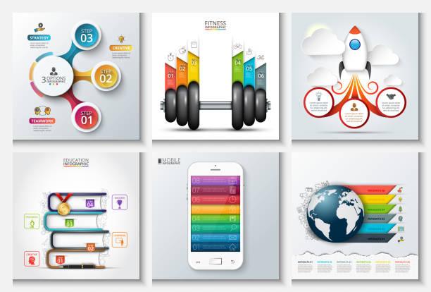 illustrations, cliparts, dessins animés et icônes de vector abstract templates for infographics. - nuage 6