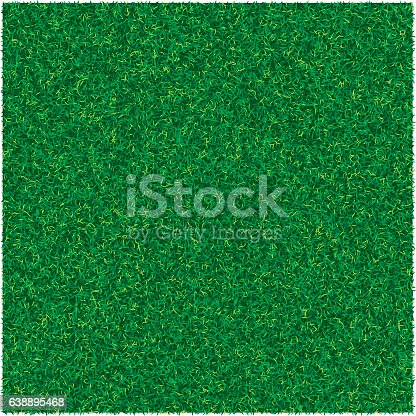 istock Vector abstract texture with green lawn grass for design background 638895468