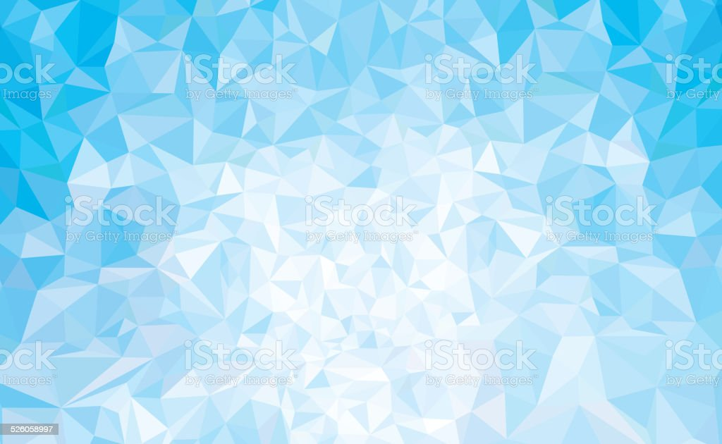 Vector abstract triangles blue background. vector art illustration