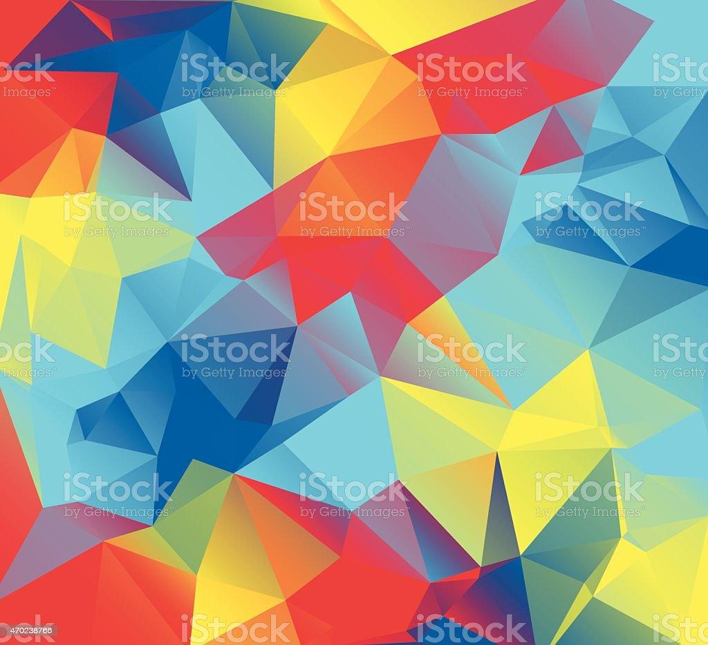 Vetor abstrato fundo ilustração Triangular - ilustração de arte em vetor