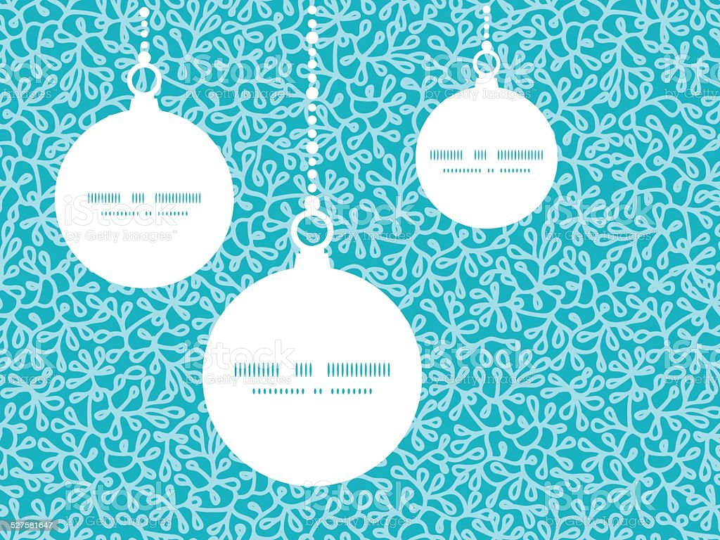 Vector abstract underwater plants Christmas ornaments silhouettes pattern frame card vector art illustration