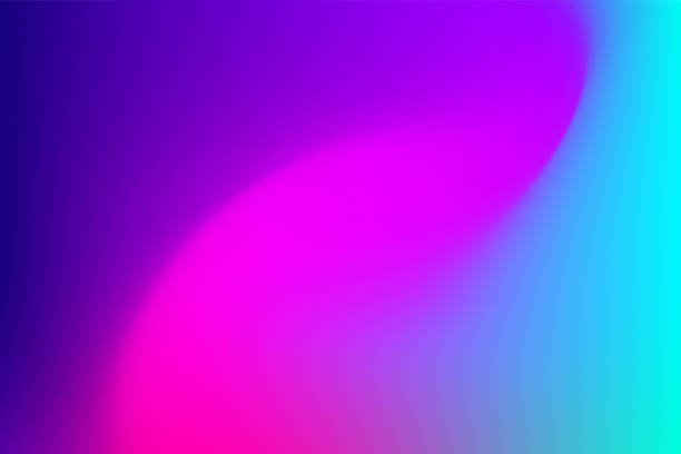 vector abstract vibrant mesh background: fuchsia to blue. - color image stock illustrations